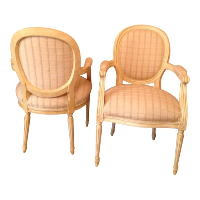 Louis XVI Style Chairs - A Pair - Image 1 of 7