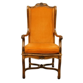 Hekman Furniture Rustic Country Cane Seat Armchair For Sale