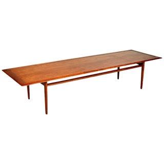 1960s Kipp Stewart for Drexel Parallel Walnut Coffee Table For Sale