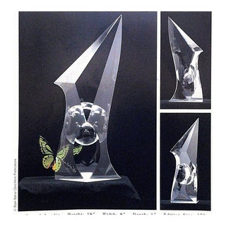 """""""Cocoon"""" Carved Acrylic Sculpture by Bijan Bahar For Sale"""