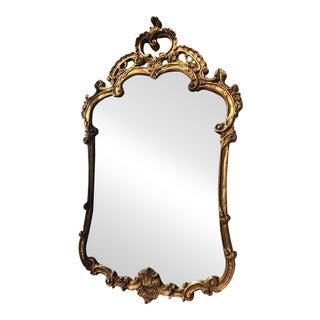 Vintage Baroque Gilt-Framed Mirror