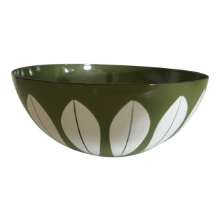1970s Vintage Cathrine Holm Greene Lotus Bowl For Sale