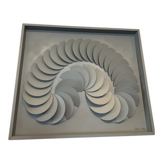 1970s Vintage Stephen L Winer Abstract Wooden Wall Sculpture For Sale