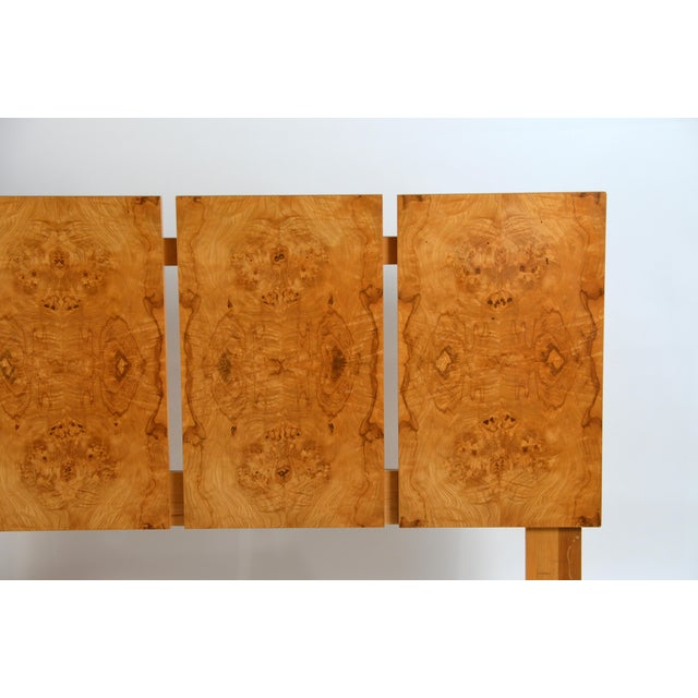 Contemporary Minimalist Burl Wood Queen Size Headboard by Lane For Sale - Image 3 of 8
