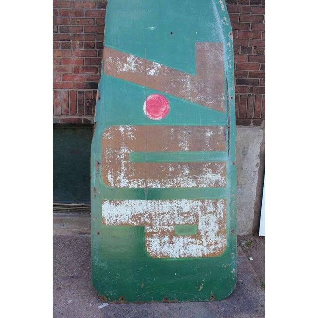 "Americana 1960's Vintage Masonite"" 7 UP Bottle"" Sign For Sale - Image 3 of 3"