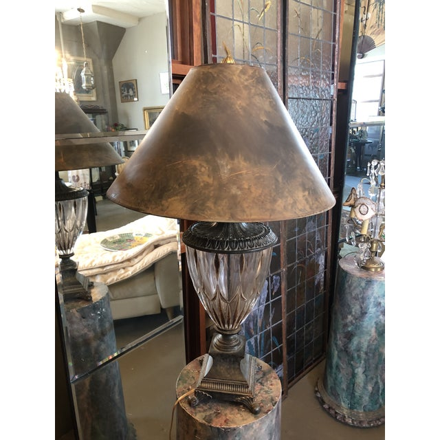 Vintage Neoclassical Crystal Table Lamp For Sale - Image 11 of 13