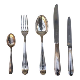 Set of Elegant Frech Art Deco Silver Tableware For Sale