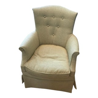 Contemporary Upholstered Sitting Chair For Sale