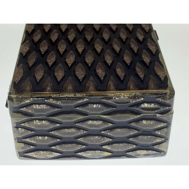 French Art Deco Herringbone Celluloid Box For Sale - Image 12 of 13