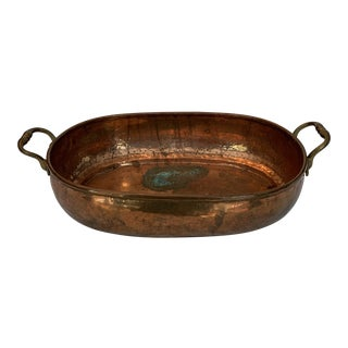 Vintage Mid Century Turkish Copper Planter For Sale