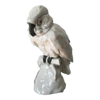 German Porcelain Cockatoo Parrot Bird Figurine Schwarzburger Werkstatten Helene Ruoff For Sale