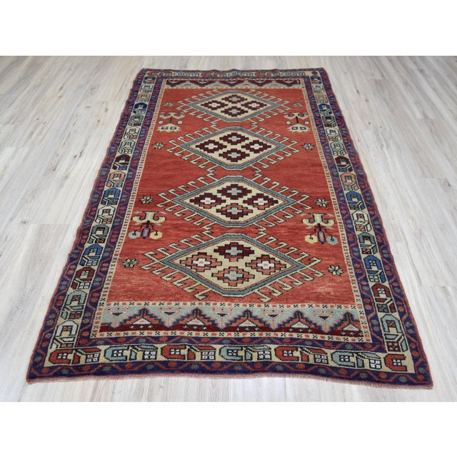 Vintage Oushak Wool Hand Knotted Rug - 4′6″ × 8′1″ - Image 2 of 11