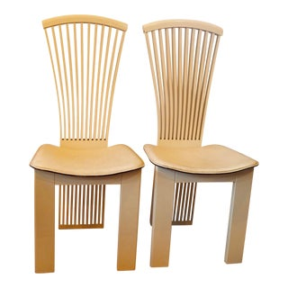 1970's Pietro Constanin Lacquer Chairs - A Pair For Sale