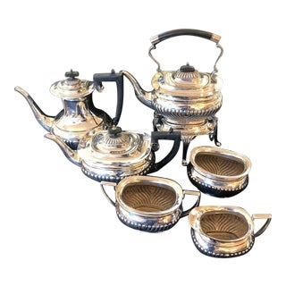 1930s EPNS Edwardian Tea Service Set of 5 For Sale