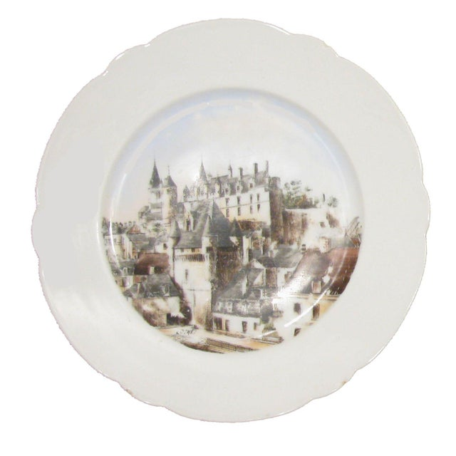 Farmhouse French Chateaux Plates - A Pair For Sale - Image 3 of 5