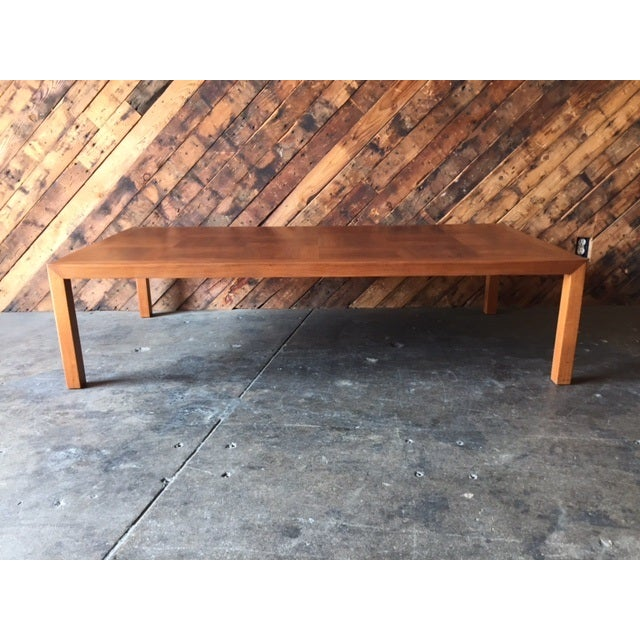 Mid-Century Refinished Parsons Style Coffee Table - Image 4 of 7