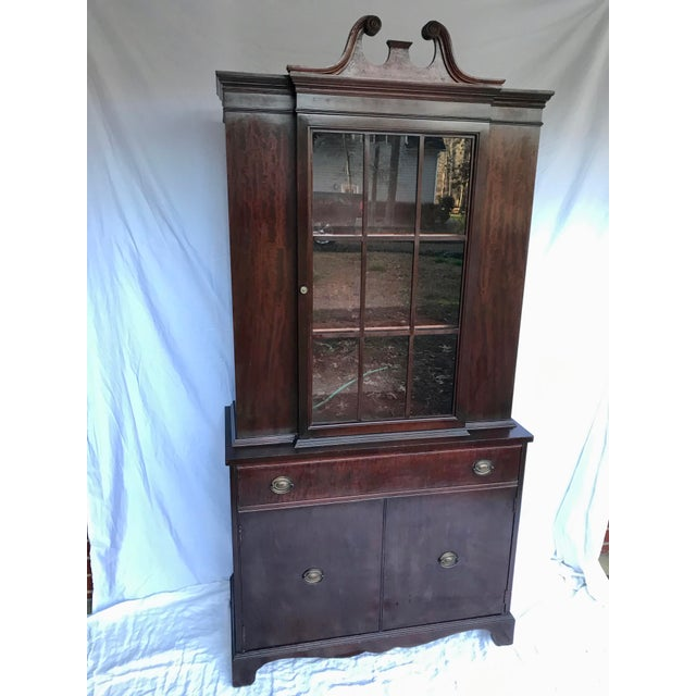 Antique Mahogany China Cabinet For Sale - Image 12 of 12