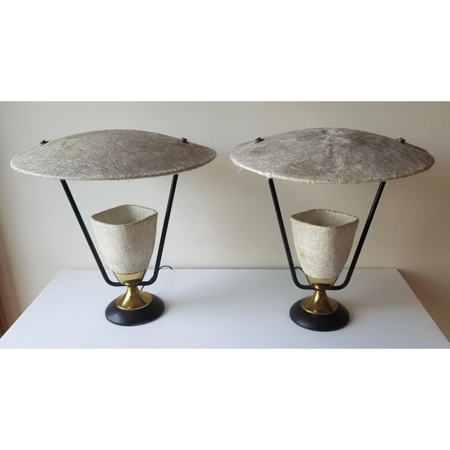 1950s Mitchell Broderick Raw Fiberglass Tamp Lamps - a Pair For Sale - Image 13 of 13