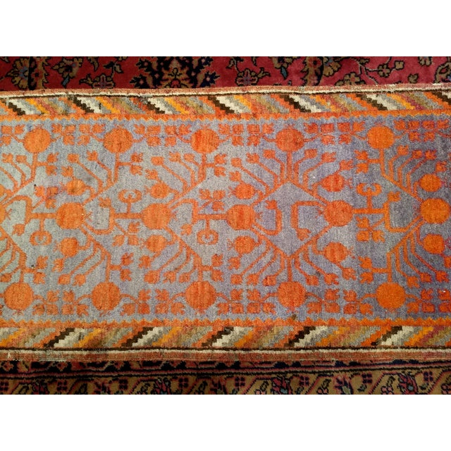 Late 19th Century 19th Century Art Nouveau Khotan Rug Runner - 2′2″ × 8′1″ For Sale - Image 5 of 12