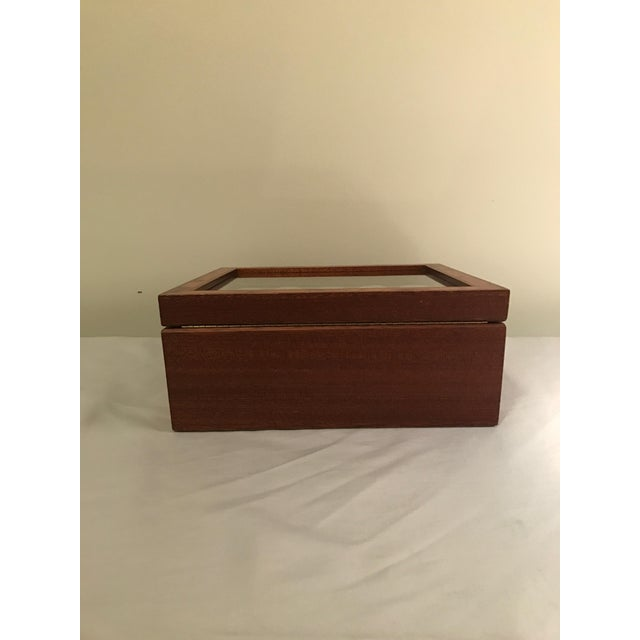 Glass Agresti Briar Wood Watch Case For Sale - Image 7 of 9