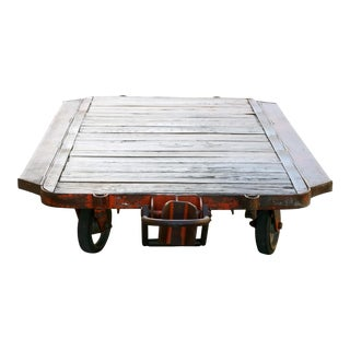 Massive Antique Factory Rolling Cart, 6 Available
