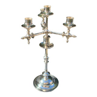 Fraget N Plague Polish Aesthetic Movement Silver Plate Candelabra For Sale