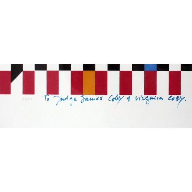 Modern Yaacov Agam Signed & Numbered Serigraph For Sale - Image 3 of 5