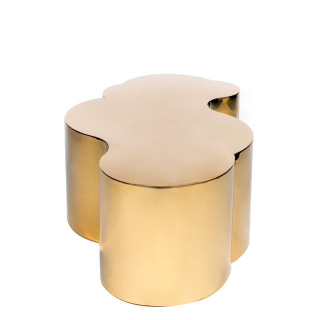 Modern Luca Coffee Table in Gold For Sale - Image 3 of 7