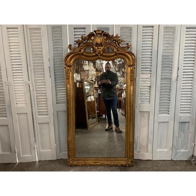 18th Century Ornate French Louis Philippe Style Mirror For Sale - Image 13 of 13