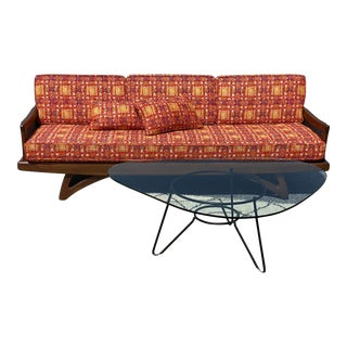 Restored Mid Century Pearsall-Style Gondola Sofa For Sale