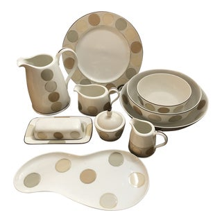 Noritake Ambience Mocha Java Serving Set - 12 Pieces For Sale