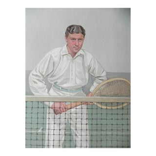 Original Vanity Fair Spy Tennis Print - H.L. Doherty, 1904