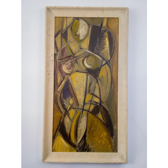 Mid 20th Century Mid-Century Cubist Portrait of Woman For Sale - Image 5 of 5