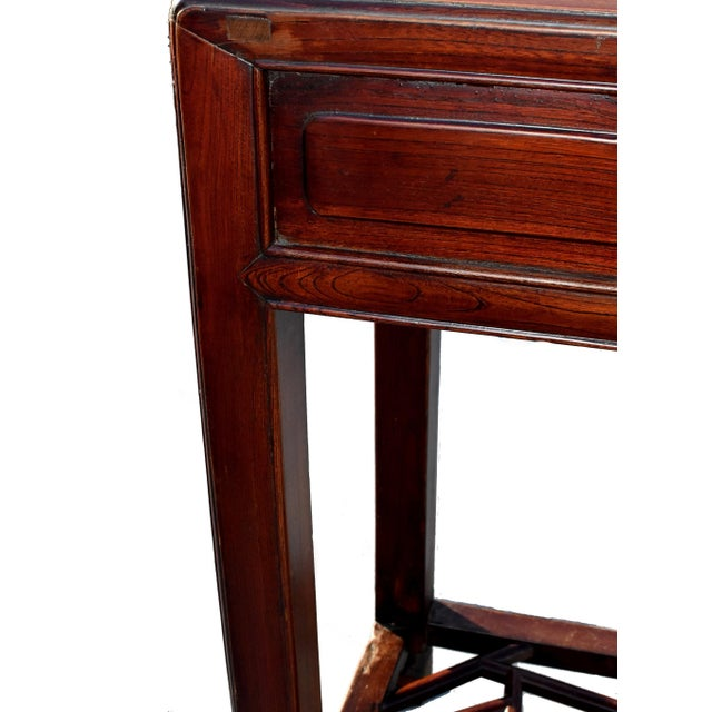 19th Century Chinese Antique Ming Side Table Lamp Table For Sale - Image 11 of 13