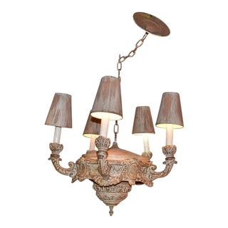 Neoclassical Style 5-Light Chandelier For Sale