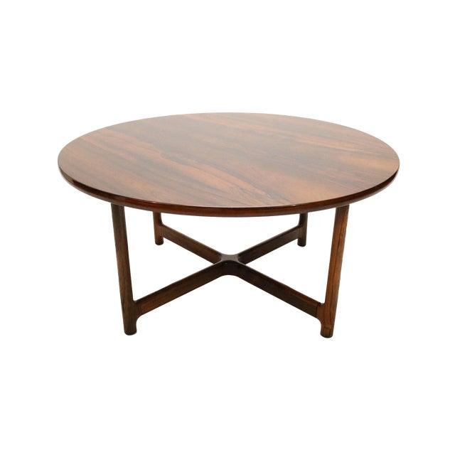 Scandinavian Modern Arne Halvorsen for Rasmus Solberg of Norway Round Rosewood Coffee Table For Sale