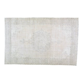 """Vintage Turkish Hand Knotted Organic Wool Fine Weave Rug,6'10""""x10'9"""" For Sale"""
