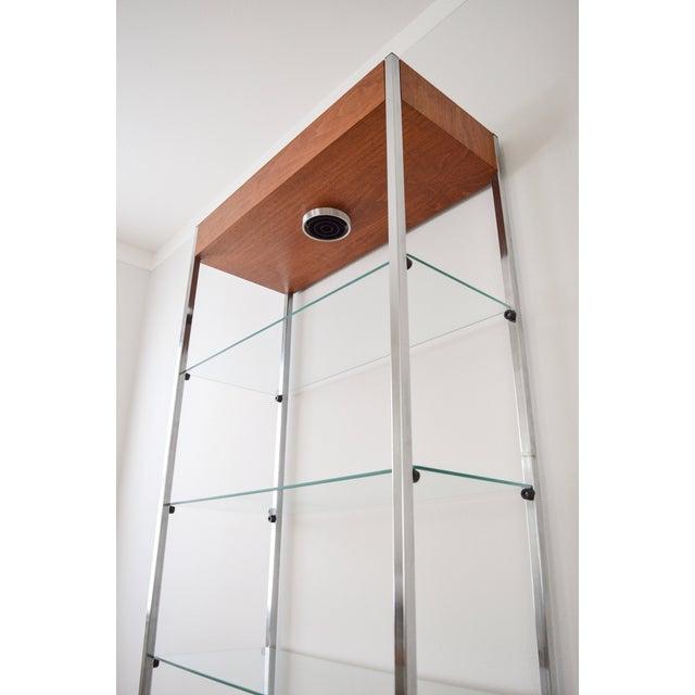 Mid-Century Glass Etagere Shelving Unit - Image 8 of 9