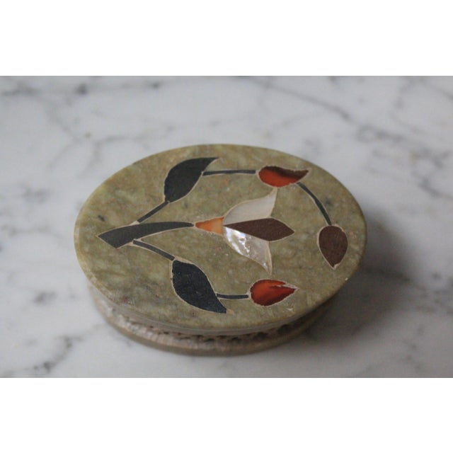 1960s 1960s Vintage Soapstone Indian Box For Sale - Image 5 of 8