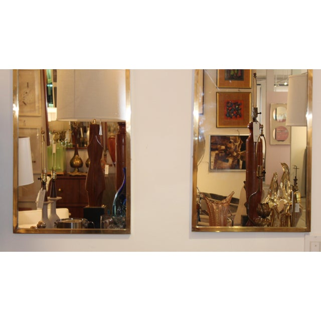 Mid-Century Modern Italian Brass Arched Frame Mirrors For Sale In New York - Image 6 of 10