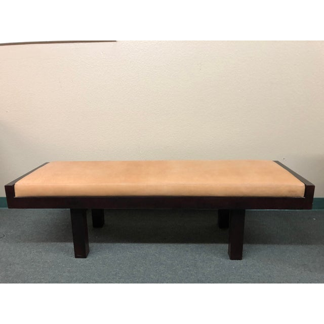 Custom Modern Coach Leather Top Bench For Sale - Image 12 of 12