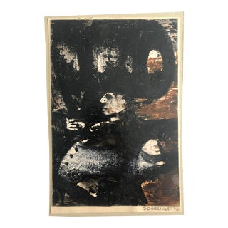 1970s Mixed Media Painting of a Man For Sale