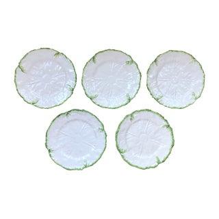 Este Ceramiche for Tiffany & Co. Cabbage Leaf Dinner Plates - Set of 5 For Sale