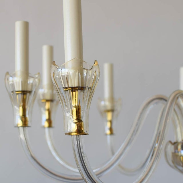 Traditional Mid 20th Century Czech Chandelier With Tulip Cups For Sale - Image 3 of 7