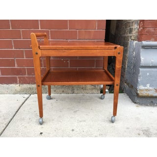 1960s Scandinavian Artie of Sweden Teak Tea Trolley With Removable Top Tray Preview