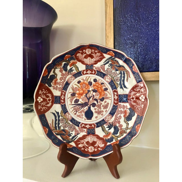 Ceramic Andrea by Sadek Chinoiserie Purple Plate For Sale - Image 7 of 8