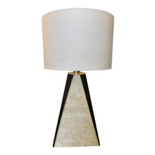 Maitland Smith Tessellated Stone & Brass Table Lamp