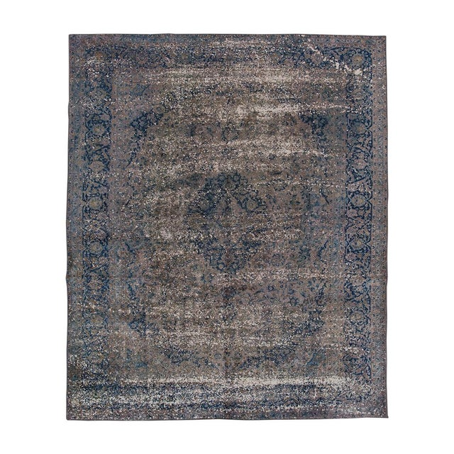 Vintage Overdyed Rug For Sale In New York - Image 6 of 6