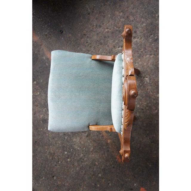 Antique Victorian Renaissance Revival Walnut Burl Parlor Accent Chair For Sale - Image 6 of 13