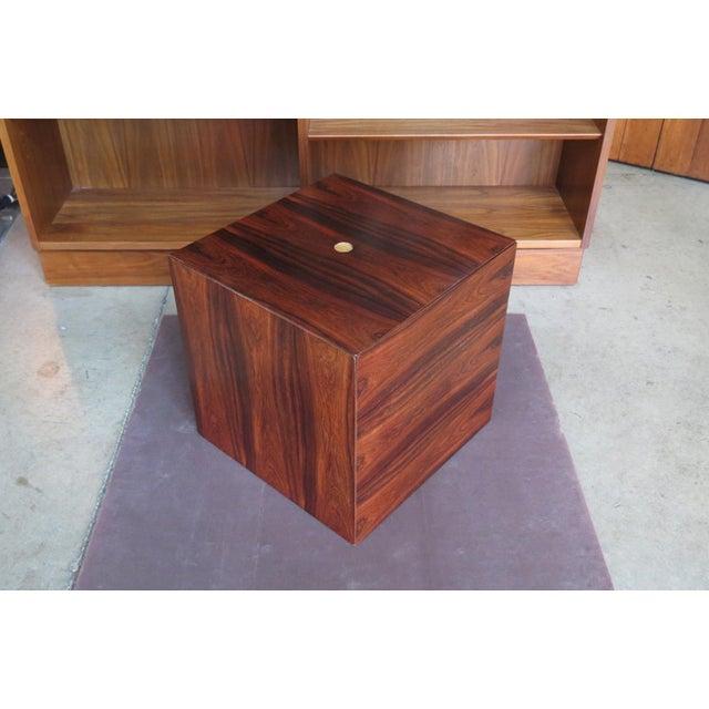 Poul Nørreklit 1960s Mid Century Modern Rare Rosewood Nesting Table Set For Sale - Image 4 of 11